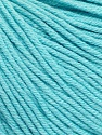 Fiber Content 60% Cotton, 40% Acrylic, Light Turquoise, Brand ICE, Yarn Thickness 2 Fine  Sport, Baby, fnt2-51558