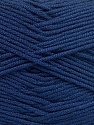 Fiber Content 50% Acrylic, 50% Bamboo, Navy, Brand ICE, Yarn Thickness 2 Fine  Sport, Baby, fnt2-51656