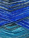 Fiber Content 75% Superwash Wool, 25% Polyamide, Turquoise, Brand ICE, Grey, Blue, fnt2-51852