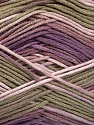 Состав пряжи 100% AntiBacterial Micro Dralon, Lilac Shades, Khaki, Brand Ice Yarns, Yarn Thickness 2 Fine  Sport, Baby, fnt2-51904