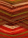 Fiber Content 75% Superwash Wool, 25% Polyamide, Salmon, Orange, Brand ICE, Green, Brown, Yarn Thickness 1 SuperFine  Sock, Fingering, Baby, fnt2-51909