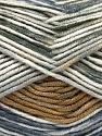 Fasergehalt 100% Antipilling Acryl, White, Jeans Blue, Brand Ice Yarns, Grey Shades, Brown, Yarn Thickness 4 Medium  Worsted, Afghan, Aran, fnt2-52067