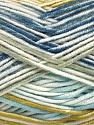 Fasergehalt 100% Antipilling Acryl, White, Olive Light Green, Brand Ice Yarns, Grey, Blue Shades, Yarn Thickness 4 Medium  Worsted, Afghan, Aran, fnt2-52069