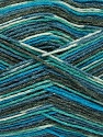 Fiber Content 50% Superwash Merino Wool, 25% Bamboo, 25% Polyamide, Turquoise, Brand Ice Yarns, Grey, Blue, Yarn Thickness 1 SuperFine  Sock, Fingering, Baby, fnt2-52243