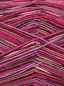 Fasergehalt 50% Superwash Merino Wool, 25% Bambus, 25% Polyamid, Pink Shades, Lilac, Brand Ice Yarns, Brown, Yarn Thickness 1 SuperFine  Sock, Fingering, Baby, fnt2-52244