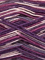 Fiber Content 50% Superwash Merino Wool, 25% Bamboo, 25% Polyamide, Purple Shades, Brand ICE, Yarn Thickness 1 SuperFine  Sock, Fingering, Baby, fnt2-52390