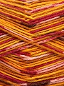 Fiber Content 50% Superwash Merino Wool, 25% Polyamide, 25% Bamboo, Yellow, Pink, Orange, Brand ICE, Gold, Yarn Thickness 1 SuperFine  Sock, Fingering, Baby, fnt2-52391