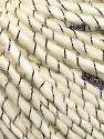 Fasergehalt 50% Wolle, 30% Acryl, 20% Lurex, Brand Ice Yarns, Grey, Cream, fnt2-52475