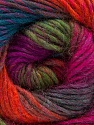 Composição 70% Dralon, 30% Lã, Purple, Orange, Brand Ice Yarns, Green, Fuchsia, Blue, Yarn Thickness 4 Medium  Worsted, Afghan, Aran, fnt2-52568