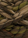 Fiber Content 50% Acrylic, 50% Wool, Brand ICE, Green, Brown Shades, Yarn Thickness 6 SuperBulky  Bulky, Roving, fnt2-52585