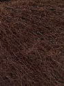 Fasergehalt 52% SuperKid Mohair, 35% Polyamid, 13% Superwash Extrafine Merino Wool, Brand Ice Yarns, Dark Brown, Yarn Thickness 1 SuperFine  Sock, Fingering, Baby, fnt2-52757