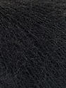 Fasergehalt 52% SuperKid Mohair, 35% Polyamid, 13% Superwash Extrafine Merino Wool, Brand Ice Yarns, Black, fnt2-53026