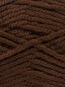 Fiber Content 100% Acrylic, Brand ICE, Dark Brown, Yarn Thickness 5 Bulky  Chunky, Craft, Rug, fnt2-53171