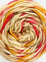 Fiber Content 80% Acrylic, 20% Polyamide, Brand ICE, Gold, Fuchsia, Cream, Brown, Yarn Thickness 4 Medium  Worsted, Afghan, Aran, fnt2-53205