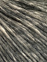 Fasergehalt 64% Baumwolle, 22% Alpaca Superfine, 14% Wolle, Brand Ice Yarns, Dark Grey, Cream, fnt2-53309
