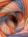 Fasergehalt 60% Acryl, 20% Angora, 20% Wolle, Orange, Lilac, Light Pink, Brand Ice Yarns, Cream, fnt2-53558