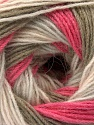 Состав пряжи 60% Акрил, 20% Шерсть, 20% Ангора, Pink Shades, Light Grey, Khaki, Brand Ice Yarns, fnt2-53559