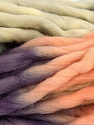 Fiber Content 100% Superwash Wool, Purple, Light Salmon, Khaki, Brand ICE, Yarn Thickness 6 SuperBulky  Bulky, Roving, fnt2-53572