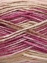 Fasergehalt 70% Acryl, 30% Wolle, Pink, Orchid, Khaki, Brand Ice Yarns, fnt2-53767