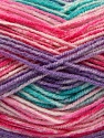 Fasergehalt 70% Acryl, 30% Wolle, Turquoise, Pink Shades, Lilac, Brand Ice Yarns, fnt2-53773