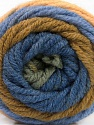 Fasergehalt 70% Acryl, 30% Wolle, Khaki, Brand Ice Yarns, Green, Dark Cream, Blue, fnt2-54072