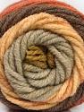 Fasergehalt 70% Acryl, 30% Wolle, Olive Green, Brand Ice Yarns, Copper, Brown, Beige, fnt2-54073