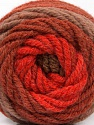 Fiberinnehåll 70% Akryl, 30% Ull, Red, Brand Ice Yarns, Copper, Brown Shades, fnt2-54074
