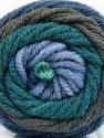 Fasergehalt 70% Acryl, 30% Wolle, Teal, Brand Ice Yarns, Grey, Blue Shades, fnt2-54119