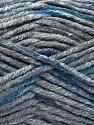 Fasergehalt 80% Acryl, 20% Polyamid, Brand Ice Yarns, Dark Grey, Blue, Anthracite Black, fnt2-54134
