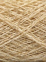 Fasergehalt 90% Baumwolle, 10% Metallic Lurex, Brand Ice Yarns, Gold, Cream, fnt2-54170