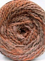 Fiber Content 38% Wool, 32% Acrylic, 20% Alpaca, 10% Polyamide, Light Salmon, Light Orange, Brand Ice Yarns, Cream, fnt2-54179