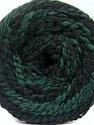 Fasergehalt 38% Wolle, 32% Acryl, 20% Alpaka, 10% Polyamid, Brand Ice Yarns, Green, Black, fnt2-54180