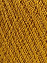 Ne: 10/3 Nm: 17/3 Fasergehalt 96% Merzerisation, 4% Metallic Lurex, Brand Ice Yarns, Gold, fnt2-54247