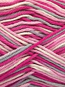 Fiber Content 100% Cotton, White, Pink Shades, Light Grey, Brand ICE, Yarn Thickness 3 Light  DK, Light, Worsted, fnt2-54353