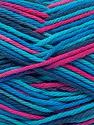 Fasergehalt 100% Baumwolle, Turquoise Shades, Navy, Brand Ice Yarns, Fuchsia, fnt2-54356
