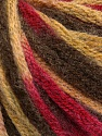 Fiber Content 50% Acrylic, 50% Wool, Brand ICE, Fuchsia, Brown Shades, Yarn Thickness 6 SuperBulky  Bulky, Roving, fnt2-54382