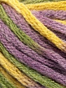 Fasergehalt 50% Acryl, 50% Wolle, Yellow, Lilac, Brand Ice Yarns, Green, fnt2-54384