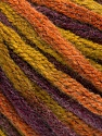 Fasergehalt 50% Wolle, 50% Acryl, Purple, Olive Green, Brand Ice Yarns, Copper, fnt2-54410