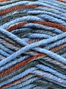 Fasergehalt 80% Acryl, 20% Polyamid, Brand Ice Yarns, Grey, Brown, Blue, fnt2-54419