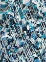 Fiber indhold 60% Polyamid, 40% Polyester, White, Brand Ice Yarns, Blue Shades, fnt2-54483