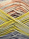 Fiber Content 50% Cotton, 50% Acrylic, Salmon, Lilac, Light Green, Brand Ice Yarns, fnt2-54484