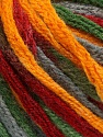Fiber Content 50% Acrylic, 50% Wool, Brand ICE, Grey, Green, Gold, Burgundy, Yarn Thickness 6 SuperBulky  Bulky, Roving, fnt2-54485