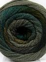 Состав пряжи 90% Акрил, 10% Полиамид, Brand Ice Yarns, Grey Shades, Green Shades, fnt2-54523