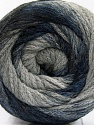 Fasergehalt 90% Acryl, 10% Polyamid, Brand Ice Yarns, Grey, Blue Shades, fnt2-54524