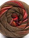 Fiber indhold 90% Akryl, 10% Polyamid, Red, Purple, Brand Ice Yarns, Green, Burgundy, Brown, fnt2-54529