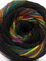 Состав пряжи 90% Акрил, 10% Полиамид, Rainbow, Brand Ice Yarns, Black, fnt2-54531