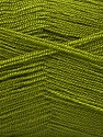 Very thin yarn. It is spinned as two threads. So you will knit as two threads. Yardage information is for only one strand. Fiber Content 100% Acrylic, Olive Green, Brand ICE, Yarn Thickness 1 SuperFine  Sock, Fingering, Baby, fnt2-54688