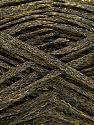 Fiber Content 82% Viscose, 18% Polyester, Brand Ice Yarns, Gold, Dark Green, Yarn Thickness 4 Medium  Worsted, Afghan, Aran, fnt2-54958