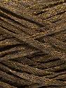 Fiber Content 82% Viscose, 18% Polyester, Brand ICE, Gold, Dark Brown, Yarn Thickness 4 Medium  Worsted, Afghan, Aran, fnt2-54959