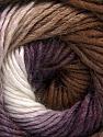 Fiber Content 50% Acrylic, 50% Wool, White, Purple, Brand ICE, Brown, Yarn Thickness 2 Fine  Sport, Baby, fnt2-55383